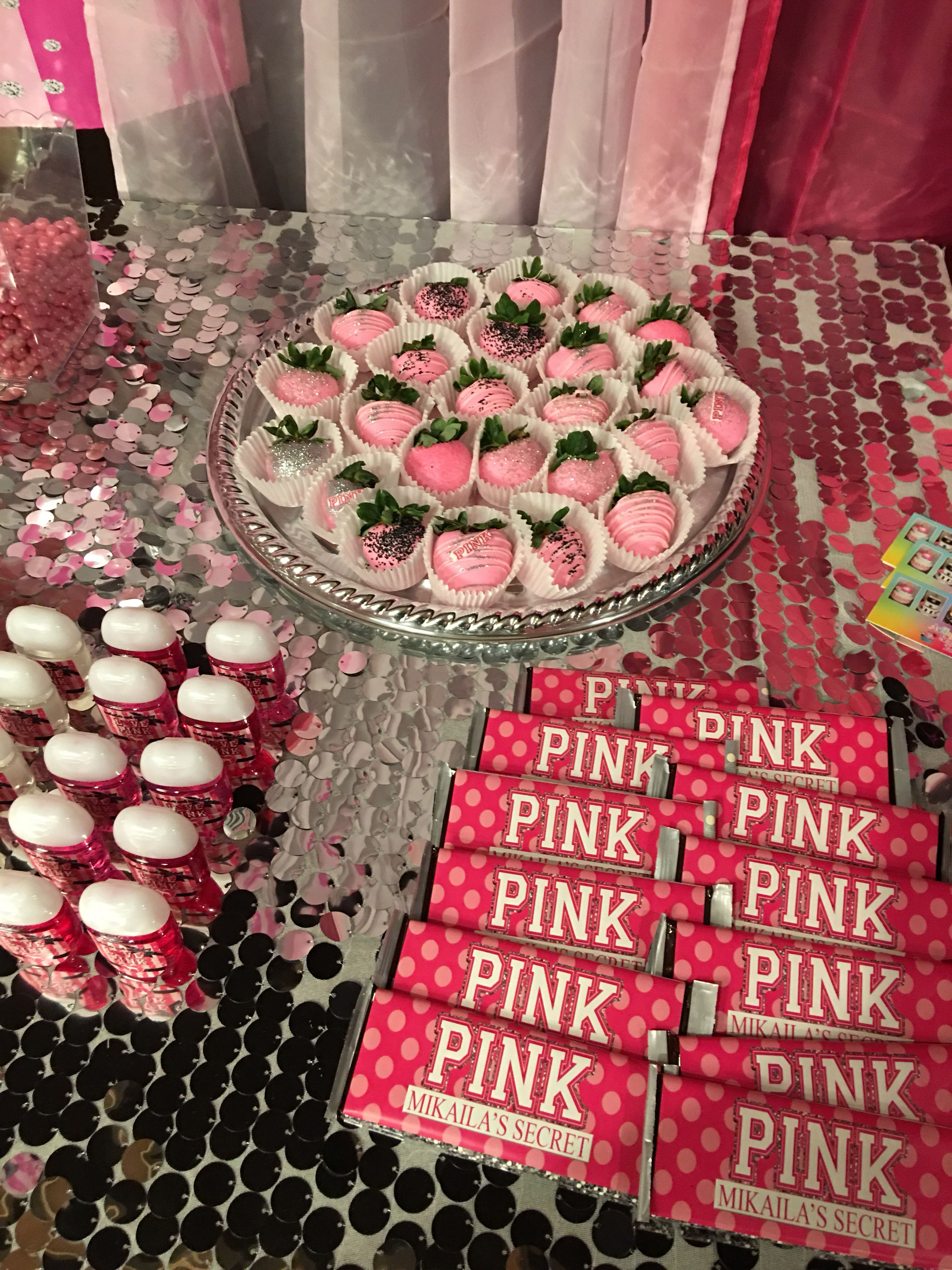 Pin By Jessie Hummel On Mikaila S 13th Pink Store Theme Party 18th Birthday Party 14th Birthday Party Ideas Sweet 16 Birthday Party