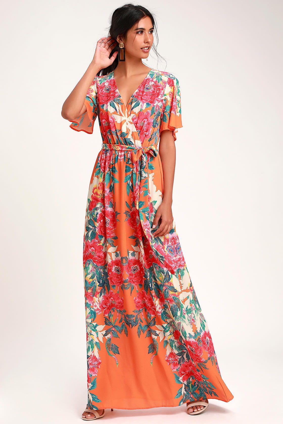 Orange Maxi Dresses,orange maxi dress,