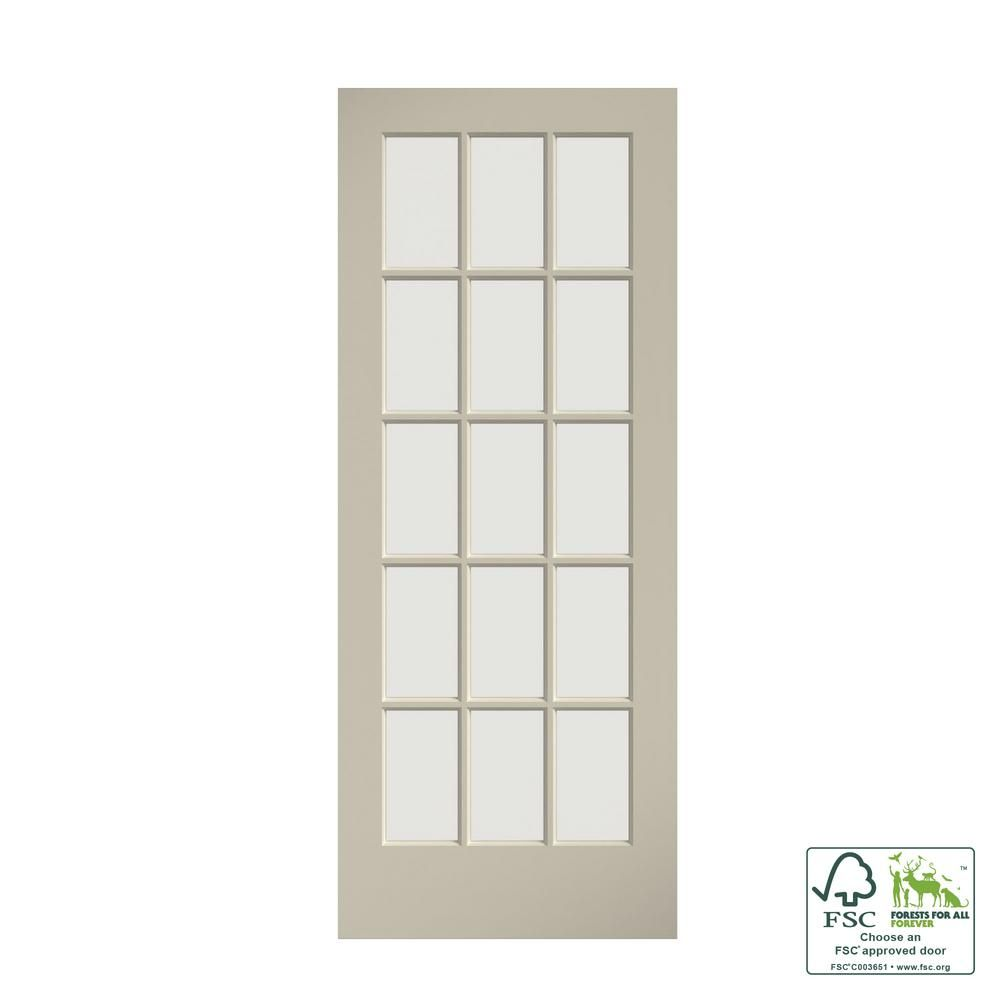 Eightdoors 28 In X 80 In Clear Glass 15 Lite True Divided White Finished Solid French Interior Door Slab 50688019802835 The Home Depot In 2020 French Doors Interior Wood Doors Interior Doors Interior