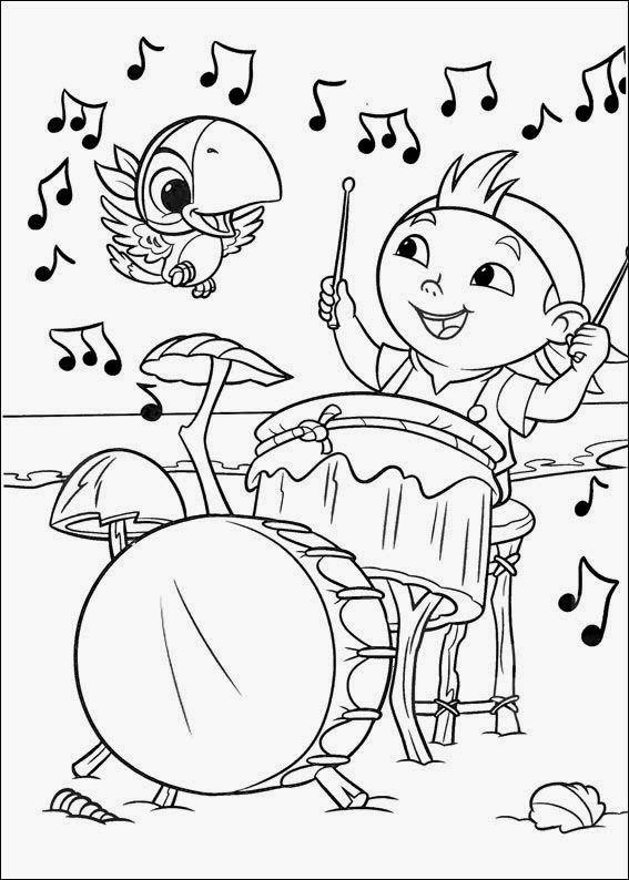 Desenhos Para Colorir Jaque E Os Piratas Com Imagens Paginas