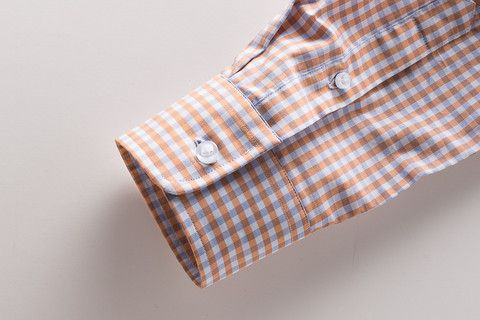 Men's dress shirt rounded cuff