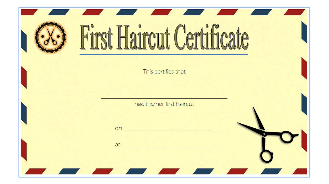 First Haircut Certificate Printable Free 2 In 2020 First Haircut Free Printables Gift Certificate Template