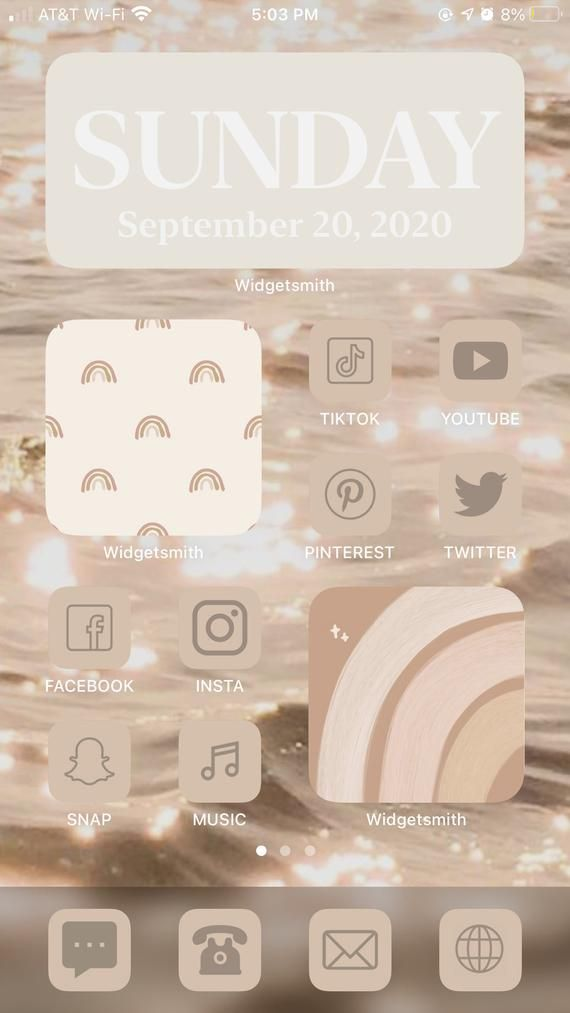 iOS 14 Widget App Cover Photos - NUDE - iPhone Basics 5 Pack