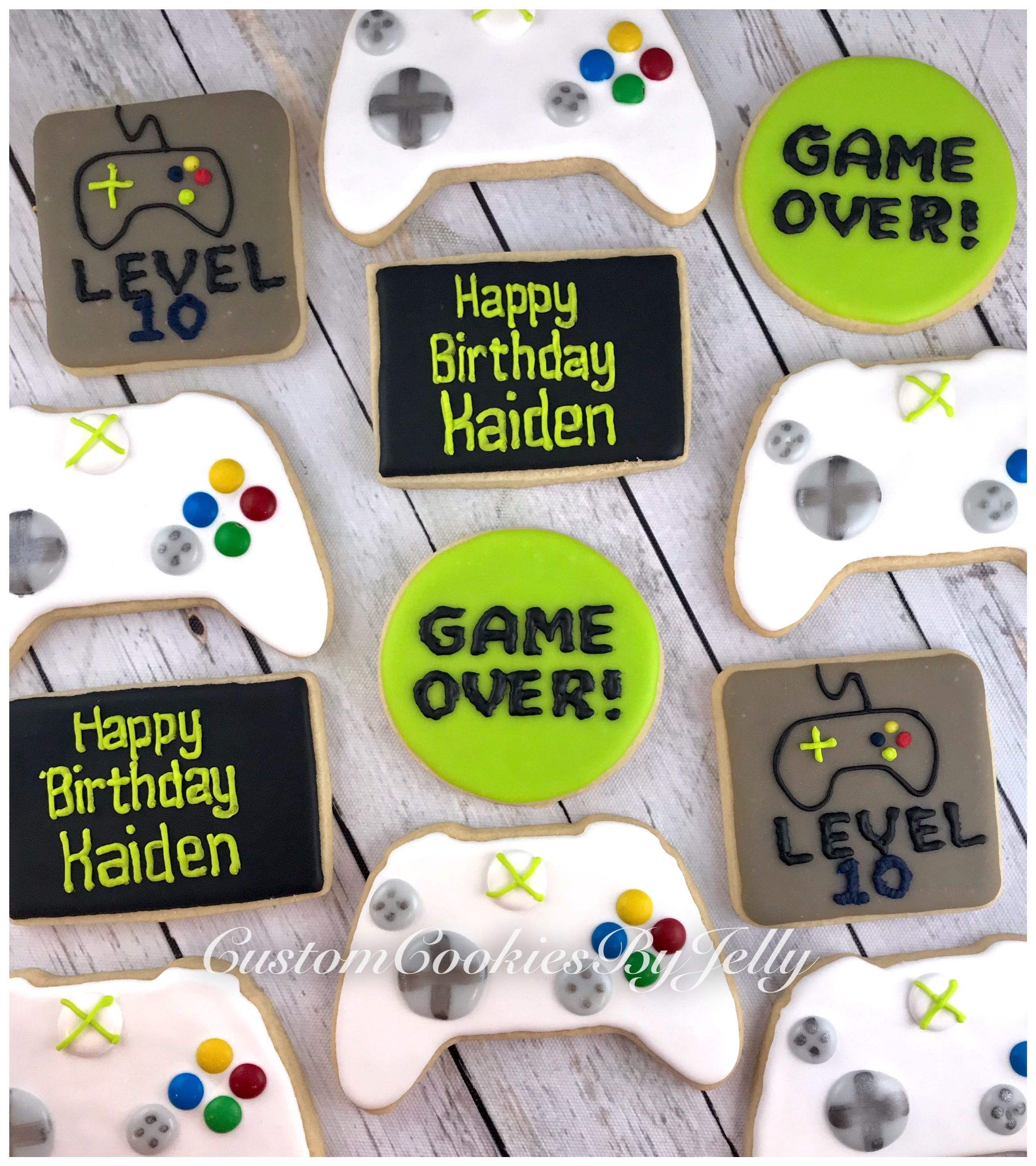 Xbox Cookies Video Games Birthday Party Xbox Birthday Party Video Games Birthday