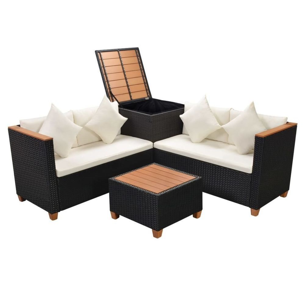 Better Homes And Gardens Replacement Cushions Azalea Ridge, Outdoor Corner Sofa Table Rattan Patio Set Seater W Storage Conservatory Black Cornersofa Black Outdoor Furniture Rattan Corner Sofa Garden Sofa Set