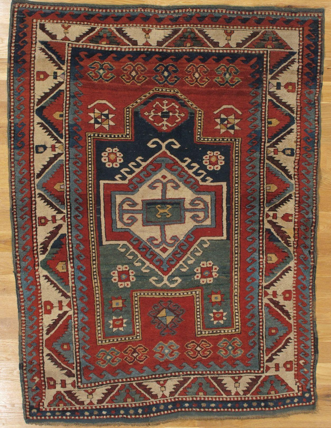 Fachralo Prayer Kazak Rug From Southwest Caucasus Age Circa 1880 Size 5 3 X4 0 160x122 Cm Sold Rugs Antique Rugs Carpet Handmade