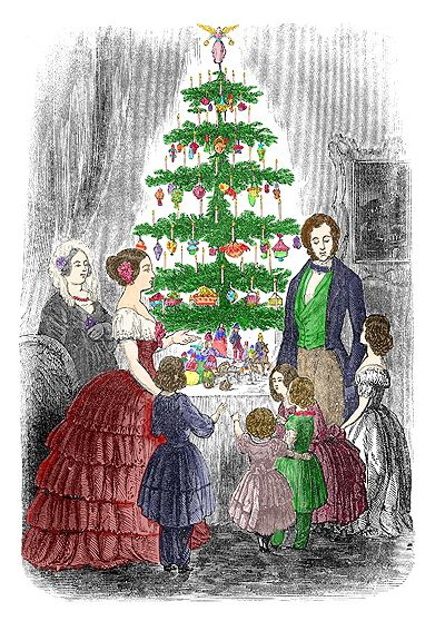 history of christmas treesin 1846 queen victoria her german prince albert were sketched in the illustrated london news standing with their children - The Origin Of The Christmas Tree