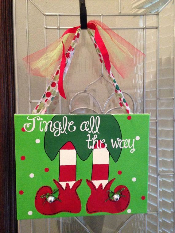 Jingle All The Way Elf Feet Painting 11x14 By