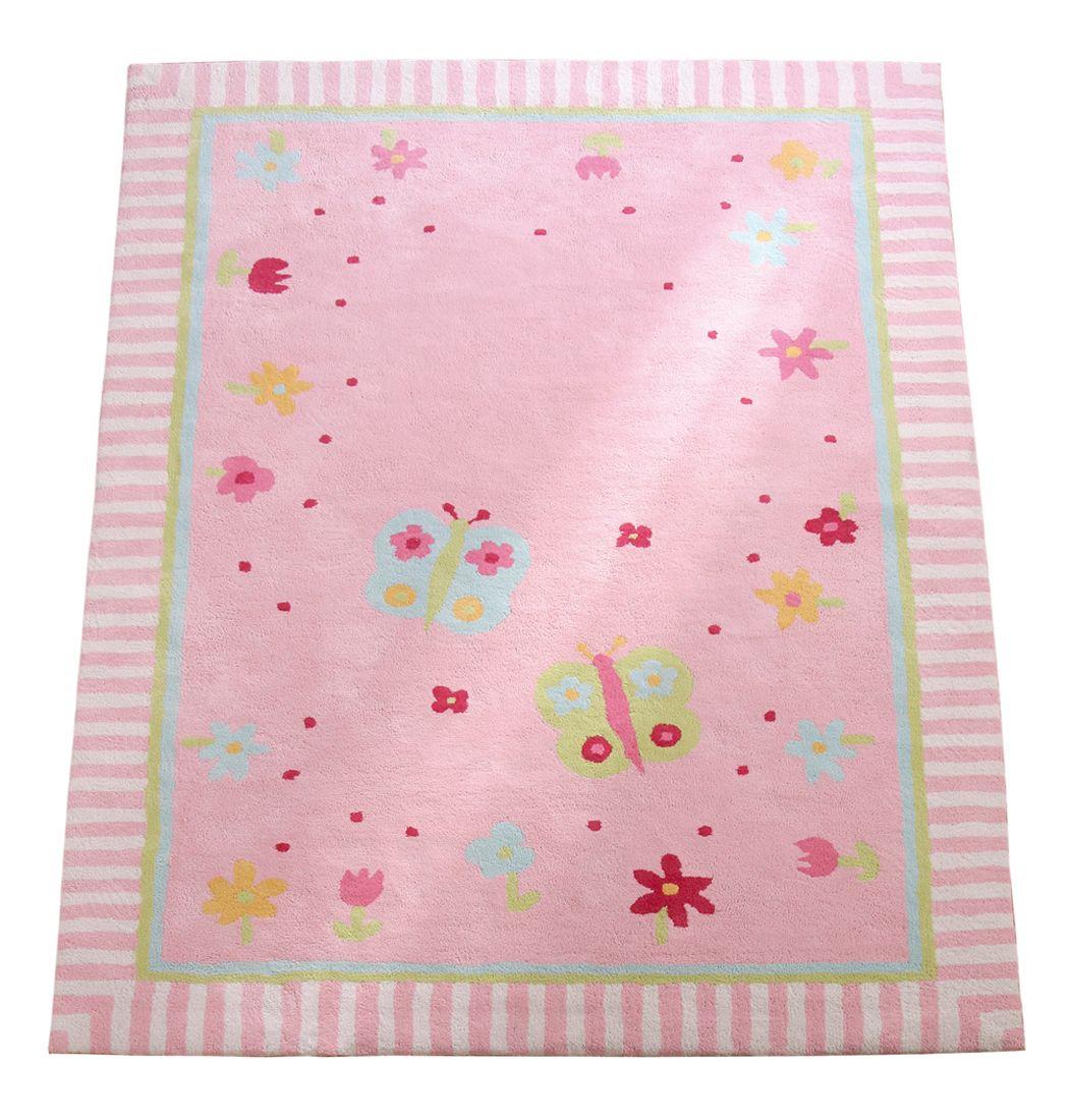 Annette Frank Kinderteppich \'Schmetterling\' rosa 140x200cm ...
