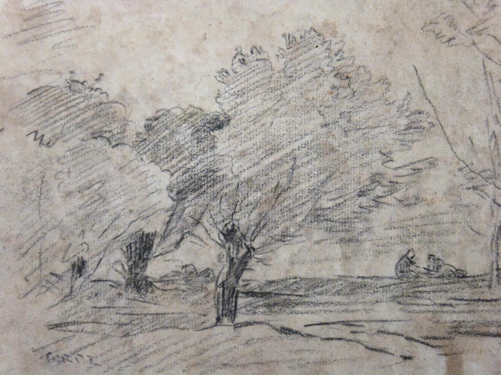 Antique For Sale Landscape Lead Pencil Drawing By Jean Baptiste Camille Corot Landscape Painting Picture Fine Arts A Dessin Paysage Idyllique Ecole De Barbizon