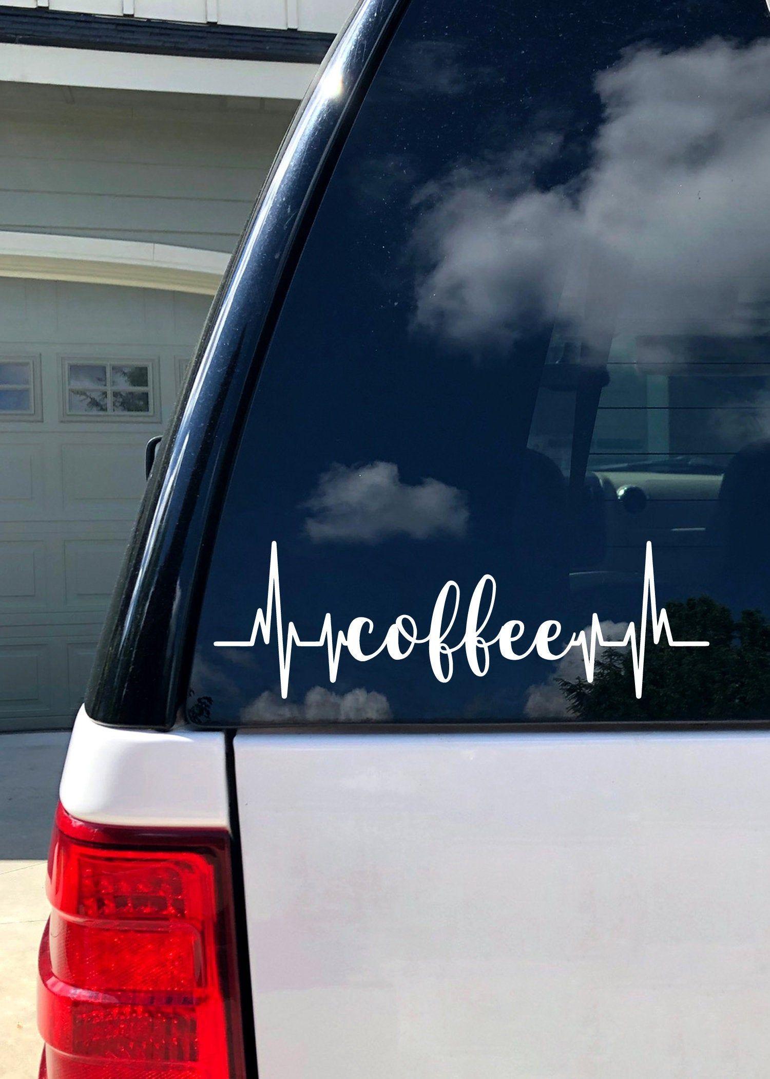 Car Decal Coffee Vinyl Decal Car Accessories Car Sticker Bumper Sticker Window Decal By Bebopandbug On Ets Car Decals Vinyl Car Decals Car Stickers [ jpg ]