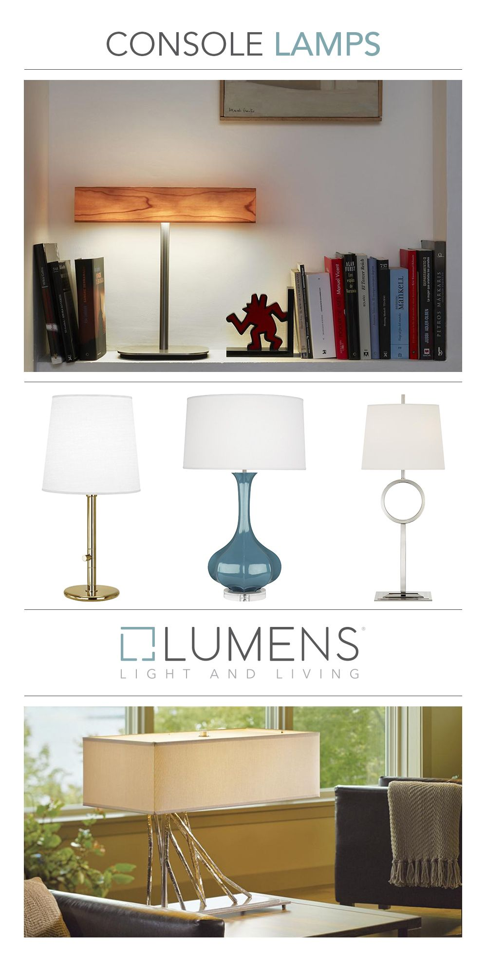 Typically larger than a bedside table lamp and often in a