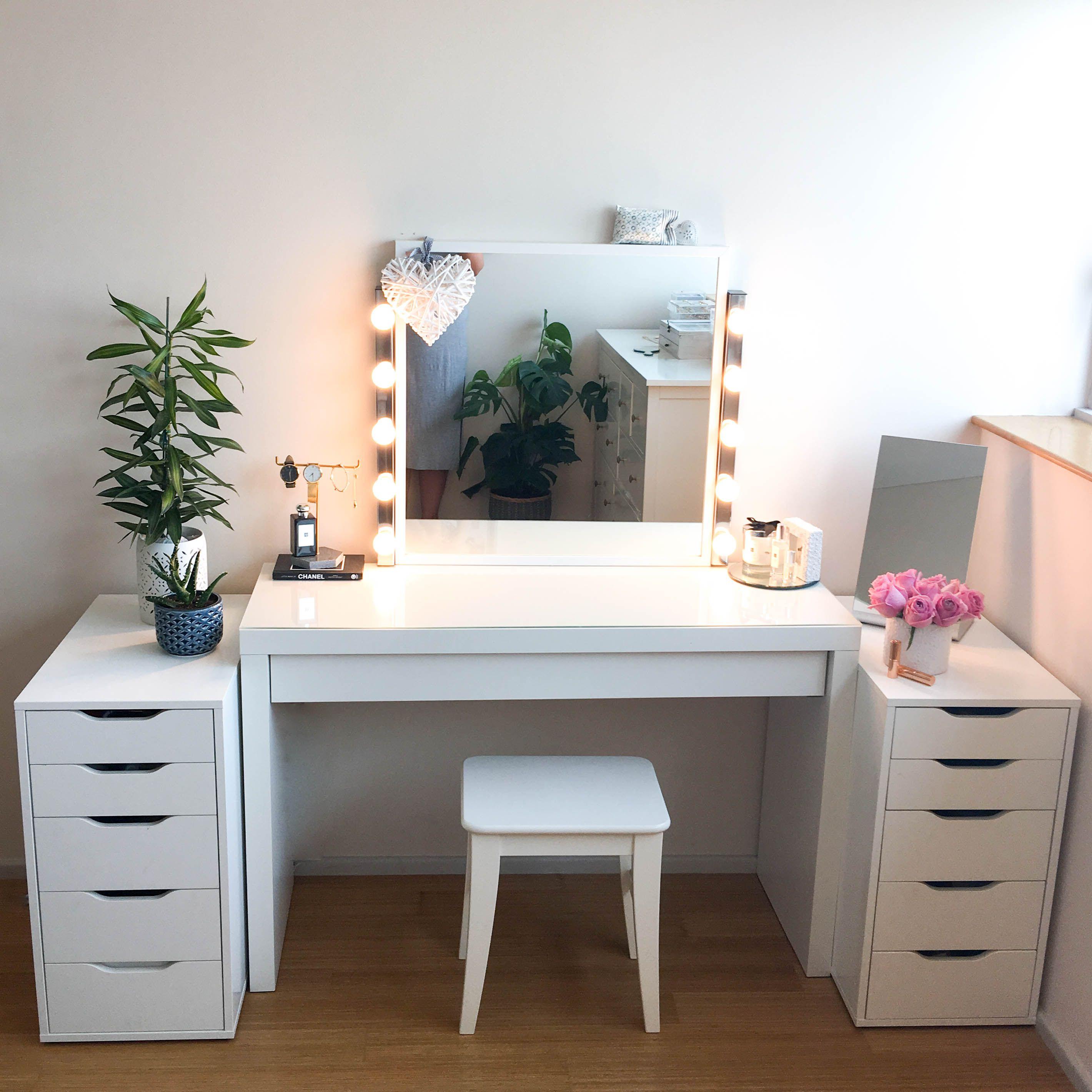 Diy Ikea Dupe Vanity Writing Desk 6 Feet Ikea Diy Diy Desk Plans Diy Makeup Desk