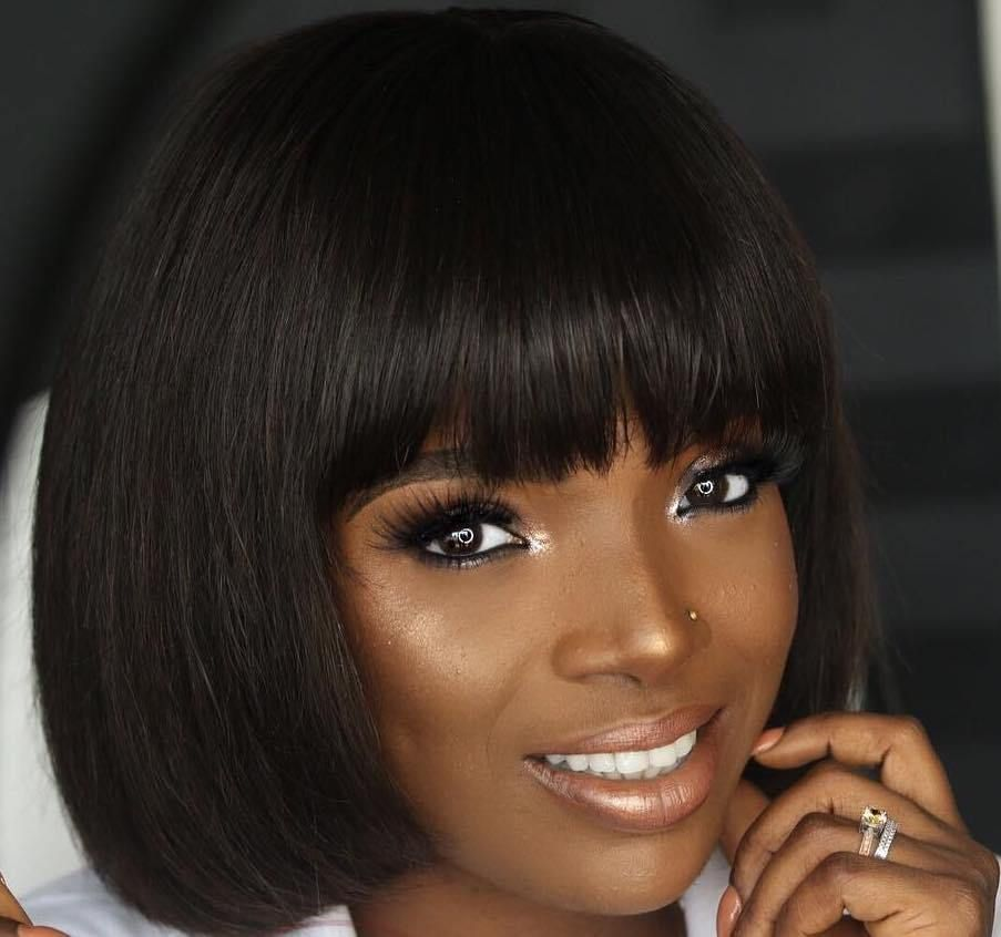 10 Nigerian Celebrities Who Slayed In The Trending Bob Hairstyle Bob Hairstyles Baby Number 3 Varicose Vein Removal