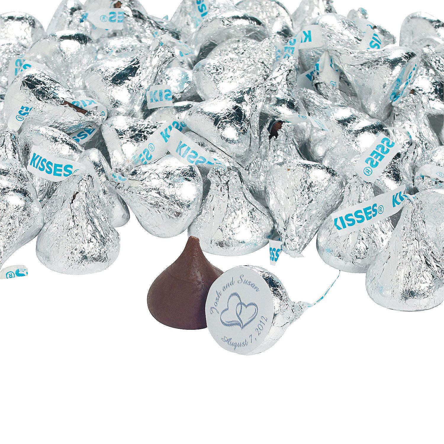 Personalized Wedding Two Hearts Hershey\'s® Kisses® - OrientalTrading ...