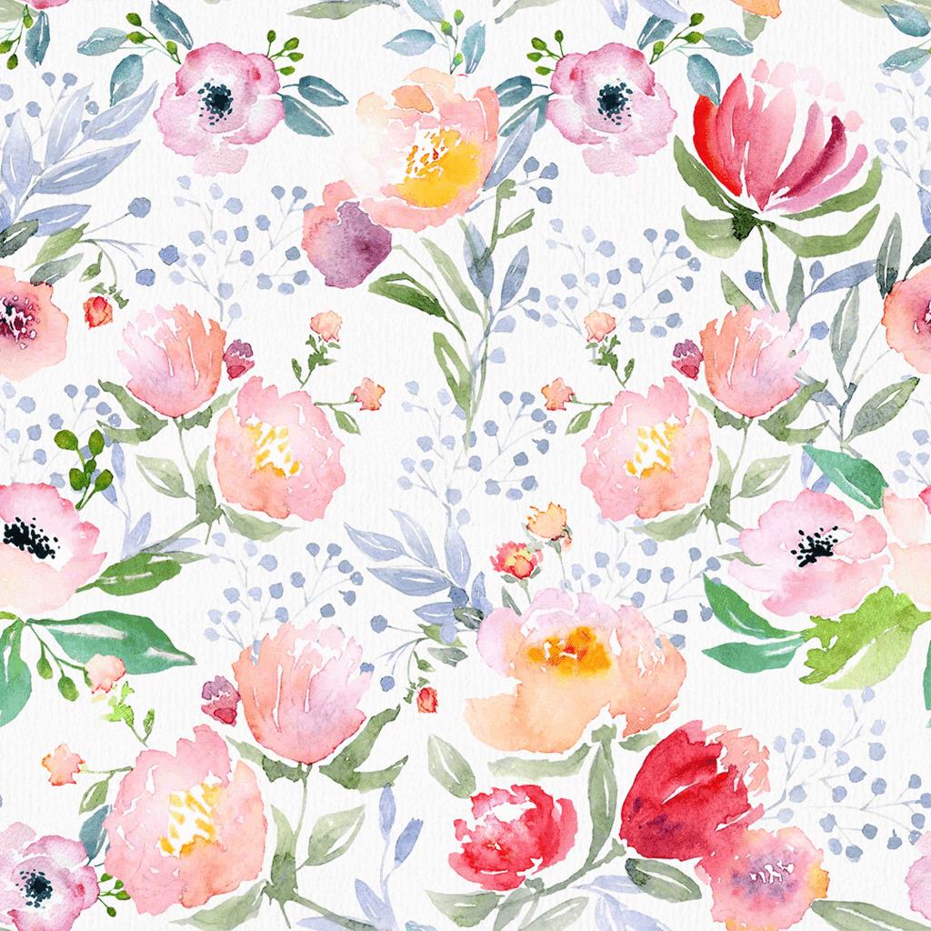 Etta Wallpaper Floral wallpaper, Floral nursery print