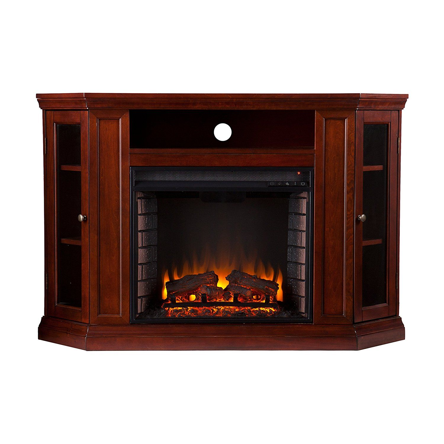 Claremont Convertible Media Electric Fireplace Cherry Huge S Available Now