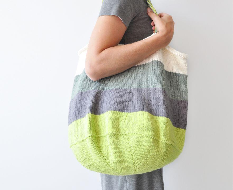 Knitted Tote Bag - Free Pattern | Free pattern, Knitting patterns ...