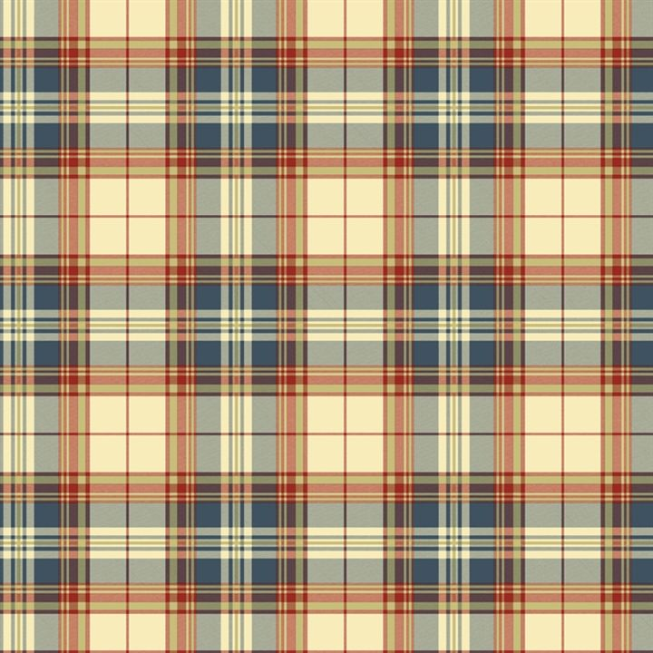 Plaid Wallpaper is cheerful in red and blue