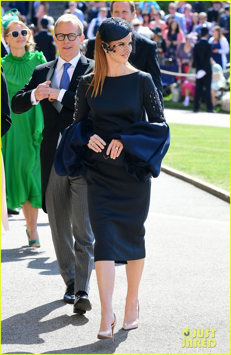 Suits Cast Arrives For Royal Wedding To Support Meghan Markle Catriona Premium Philly Sling Bag Navy