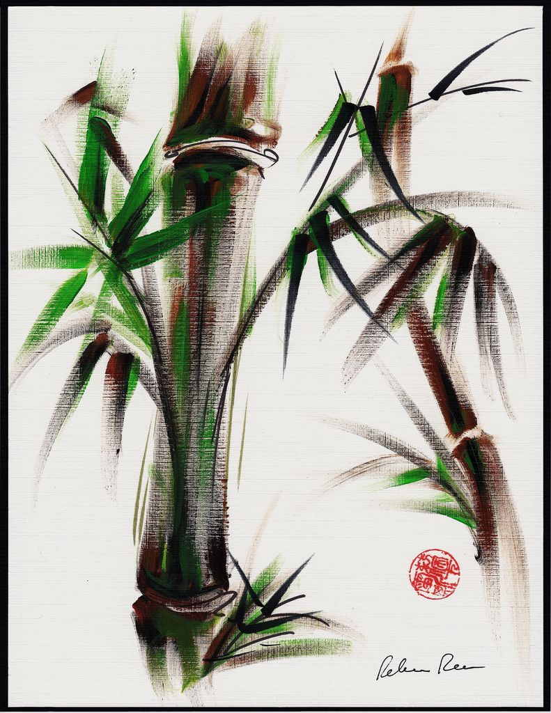 Bamboo Chinese Ink Brush Painting Bamboo Art Japanese Painting