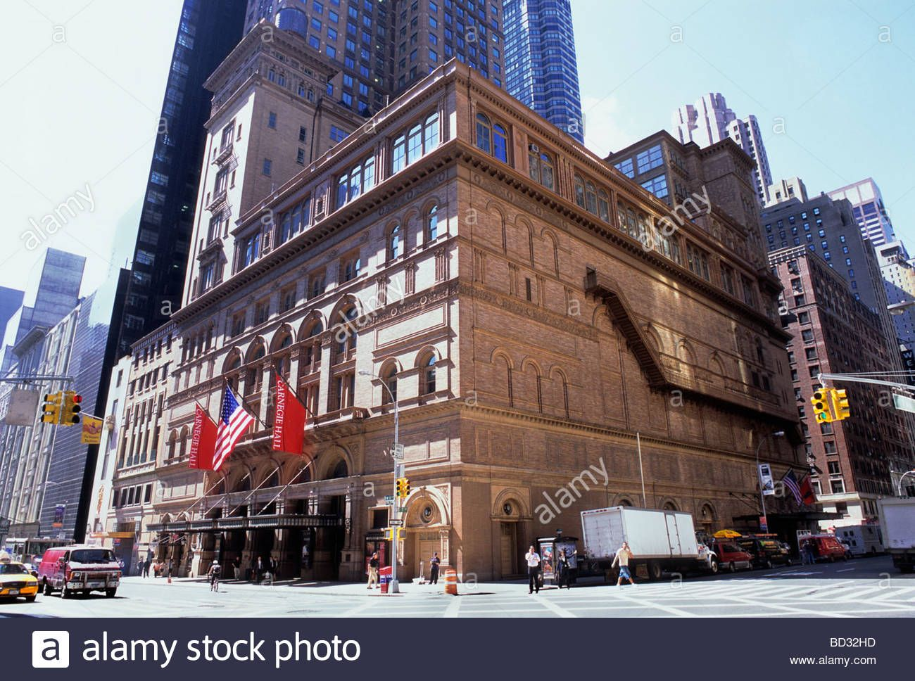 New York City Carnegie Hall Building Exterior and The Russian Tea Room USA