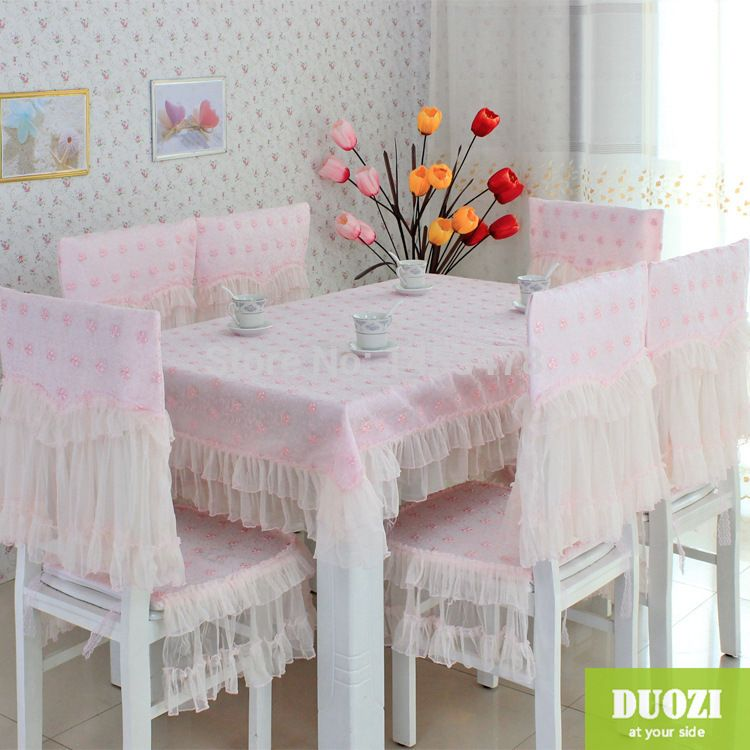 Factory Direct Sales Home Textile Product Lace Table Cover Embroidery  Floweru2026