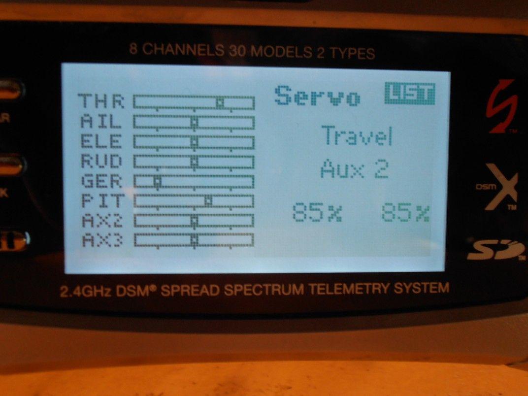 Spectrum DX8 2 Switches 1 TX channel 6 Flight Modes