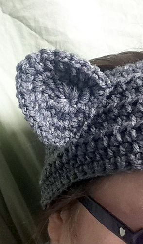 Ravelry free pattern: Neko Ear Warmer. (My first ever published ...