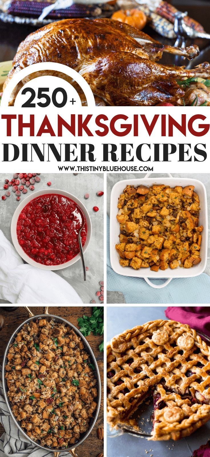 250+ Best Mouthwatering Thanksgiving Dinner Recipes #thanksgivingrecipes