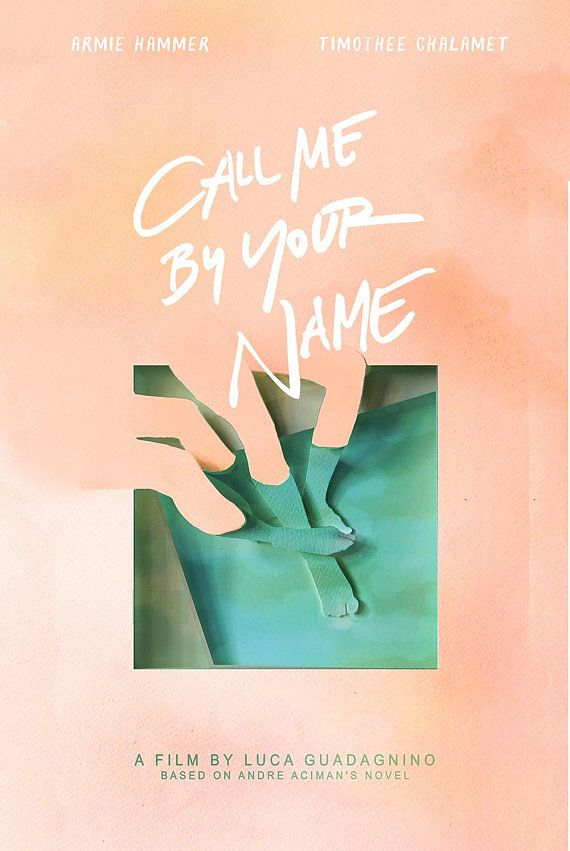 Call Me By Your Name Alternative Movie Posters Minimalist