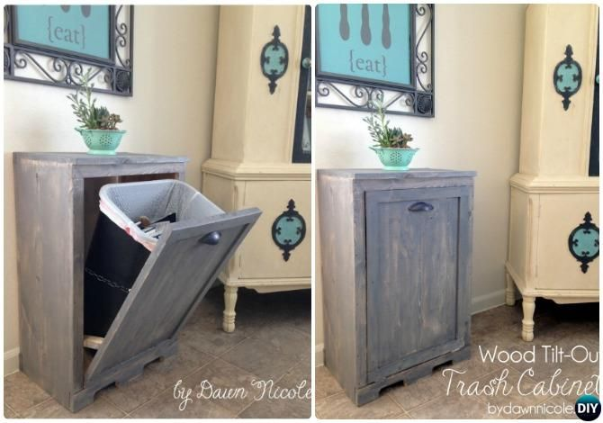 Diy Trash Can Cabinet Projects Instructions Diy Trash