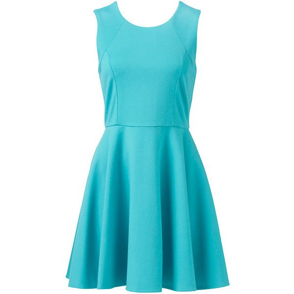 Forever New Lunar Skater Dress ($58) ❤ liked on Polyvore featuring dresses, vestidos, skater skirt, blue skater skirt, blue flare dress, flare skater dress and flared skirt