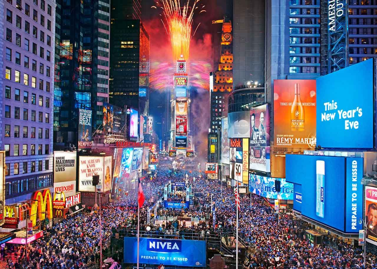 Times Square New year's eve times square, Times square