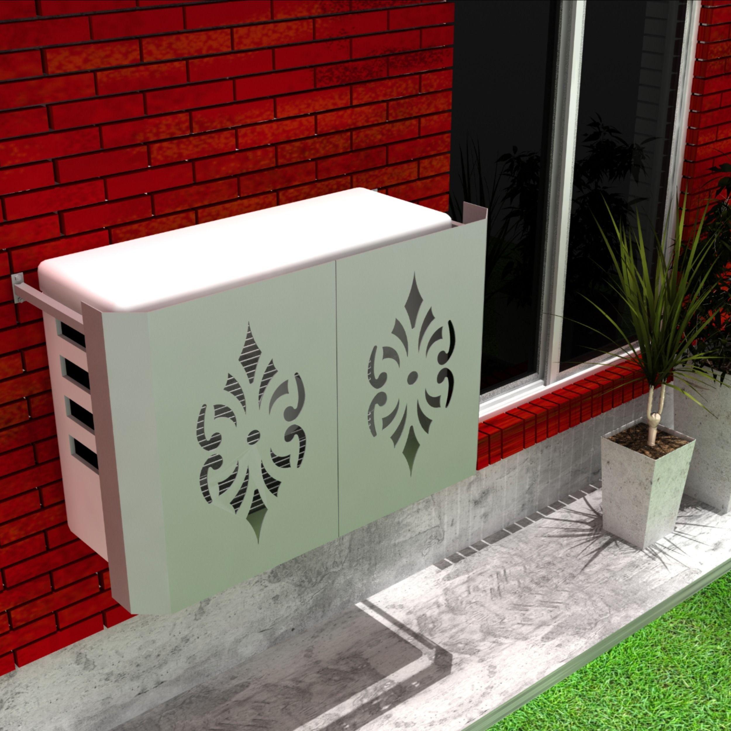 Cubridor de aire acondicionado exterior. Innova tu casa