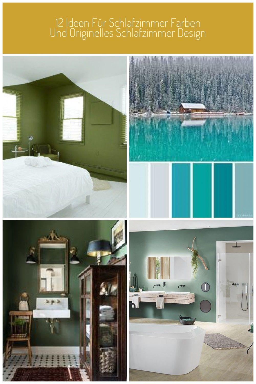 Badezimmer Wandfarbe Grun 12 Ideen Fur Schlafzimmer Farben Und Originelles Schlafzimmer Design In 2021 Bedroom Colors Bedroom Design Wall Painting
