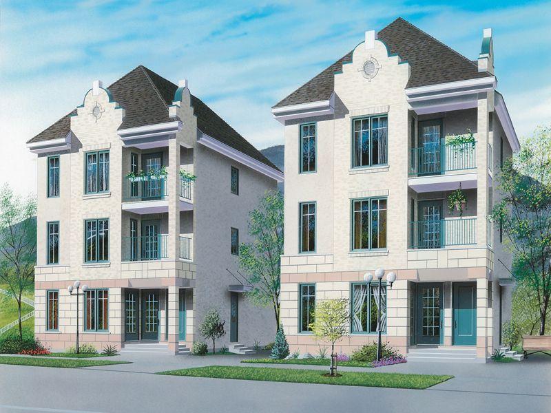Multi-Family Homes | Dormount Multi-Family Home Plan 032D-0608 ...