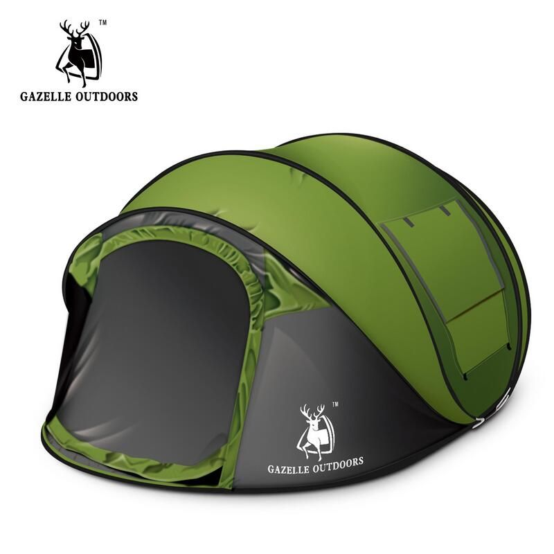 3 4 Persons Automatic Pop Up Camping Tent Fishing Hiking