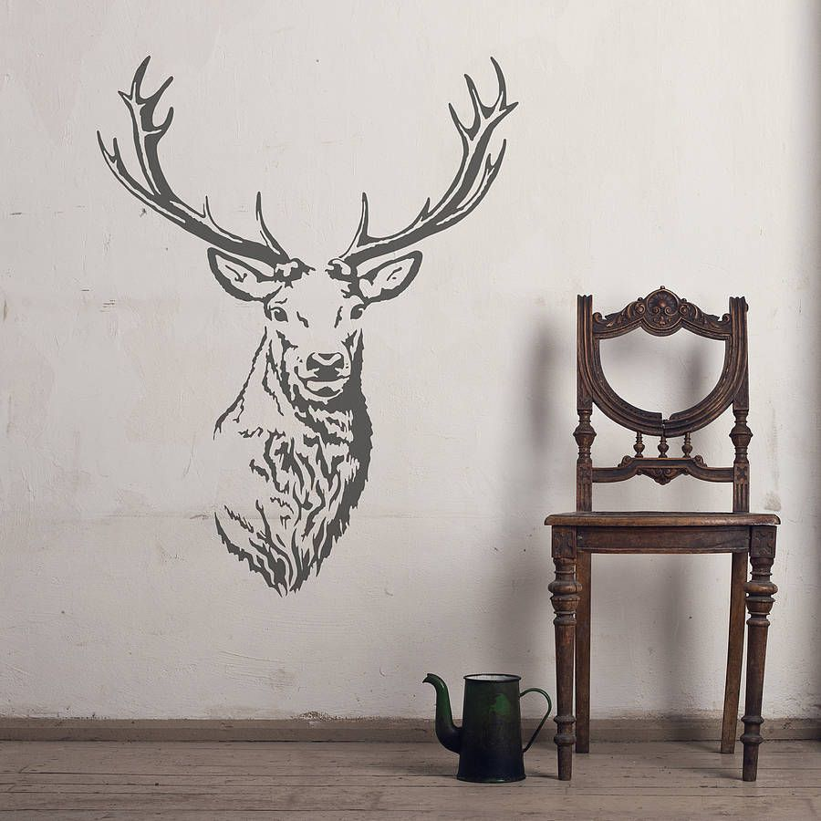 Stag head vinyl wall sticker stag head vinyl wall stickers and stag head vinyl wall sticker amipublicfo Image collections