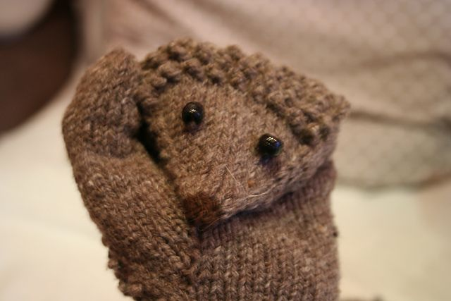 sport weight. Ravelry: Hedgehog Mitts pattern by Morehouse Designs