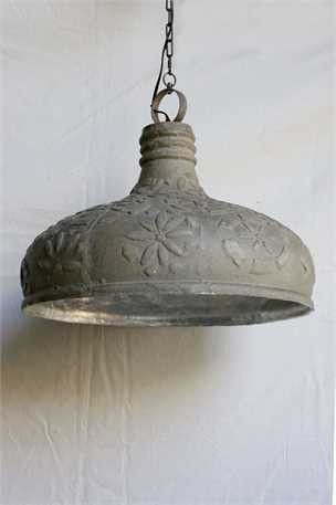 Recycled Embossed Composite Metal Farmhouse Pendant Lamp
