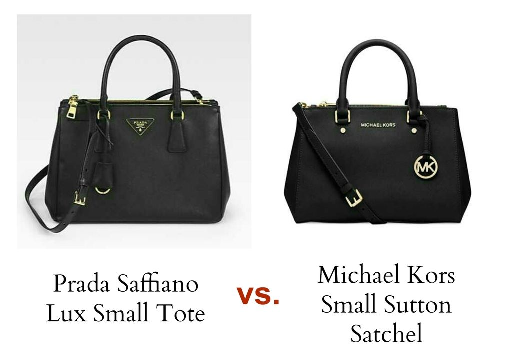 Bag Review Michael Kors Sutton Satchel In Black Small Versus Prada Saffiano Lux Tote