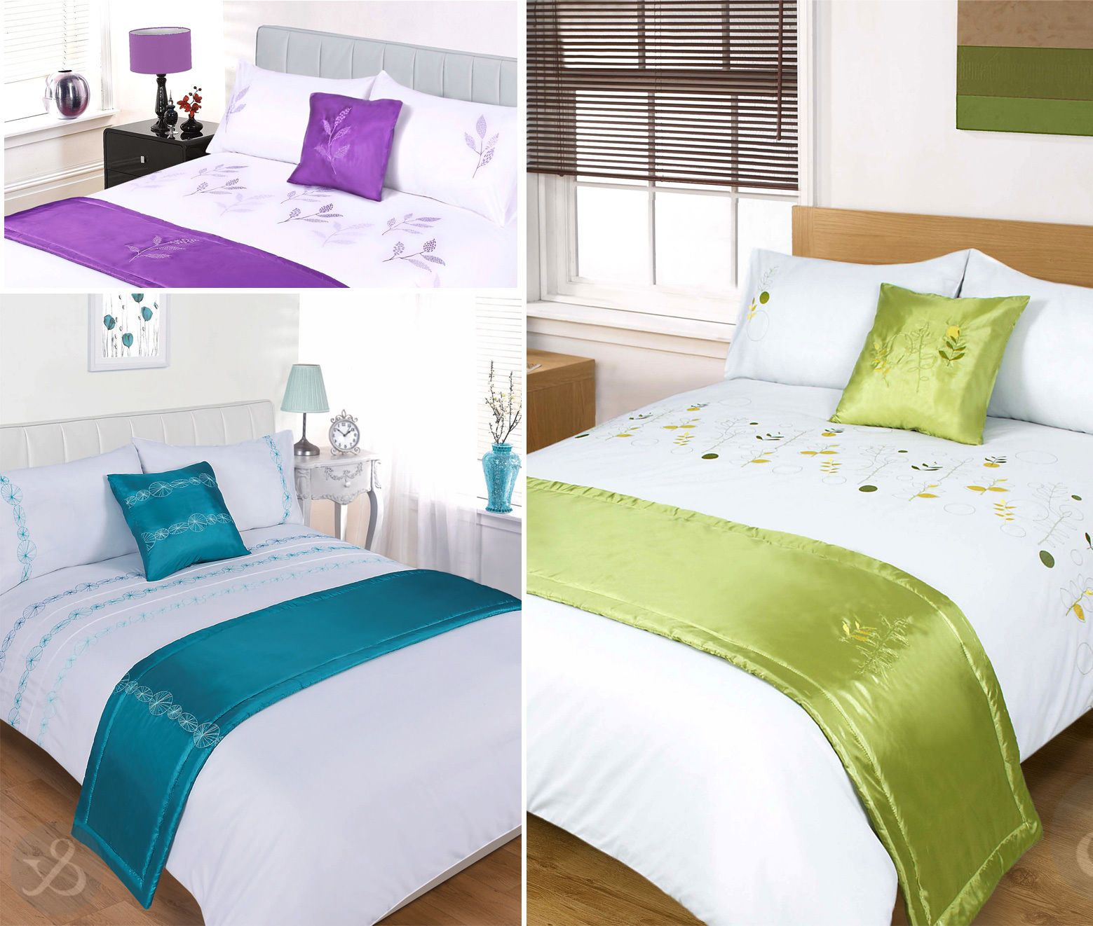 5Pc Luxury Embroidered Duvet Cover Sets - Bedding In A Bag Bed ...