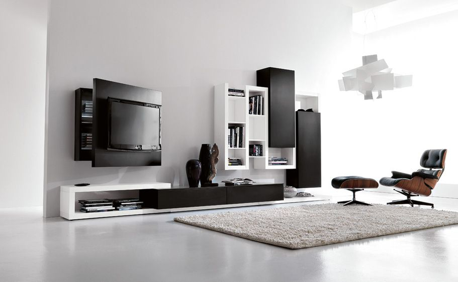 Side System 25  Modern Living Area Black And White With Glamorous Living Room Tv Cabinet Designs Review
