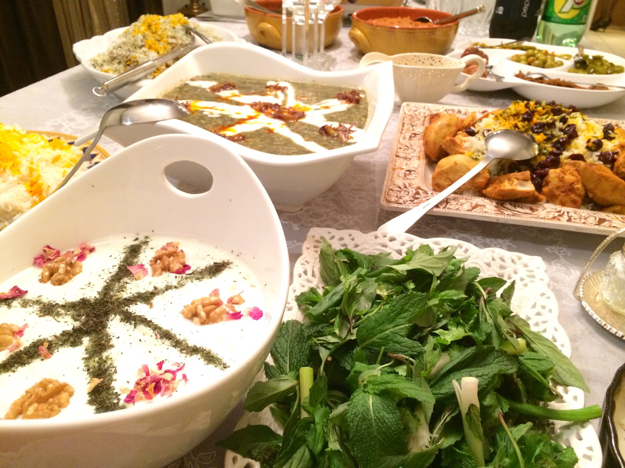 Dinner table with food - Persian Dinner Table