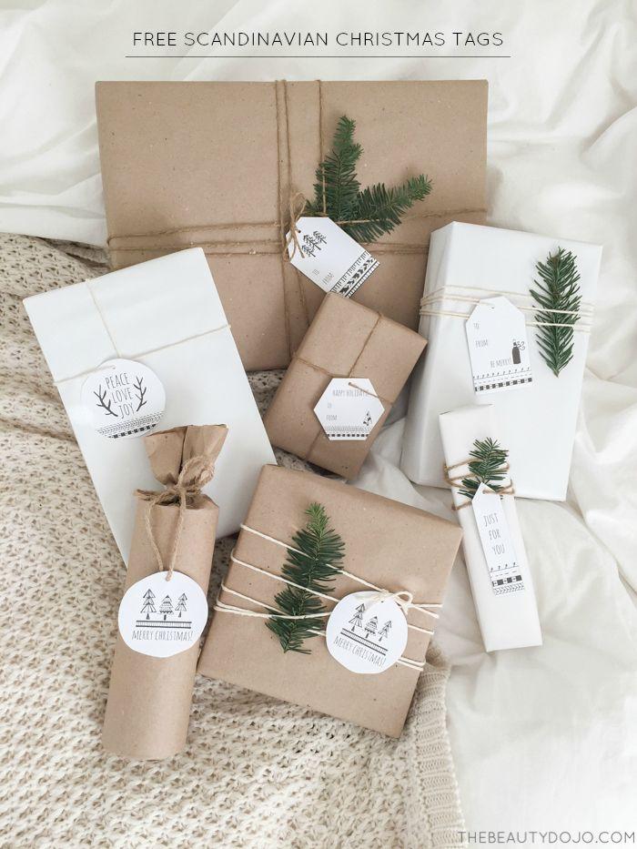 Free Printable Scandinavian Christmas Tags Christmas Gift Tags Printable Free Printable Christmas Gift Tags Christmas Gift Wrapping