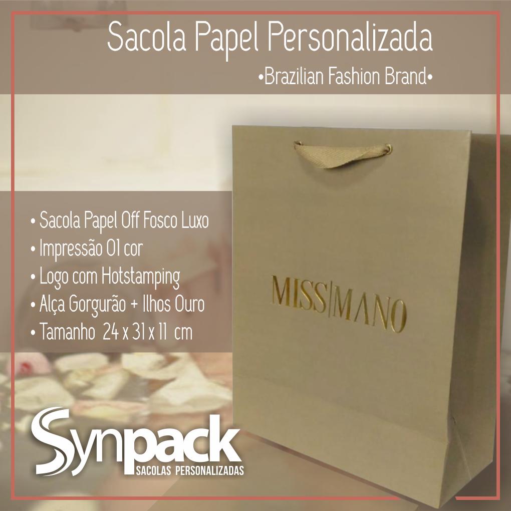 ee830d18d Sacola papel fosco luxo personalizada com aplicação de hotstamping alça  gorgurão com ilhos. S I M P L E S M E N T E um