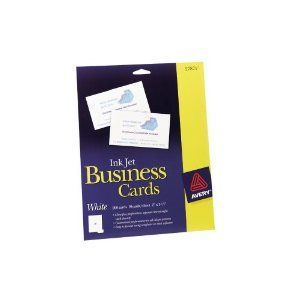 Avery business cards for inkjet printers white uncoated pack of avery business cards for inkjet printers white uncoated pack of 200 27871 reheart Image collections
