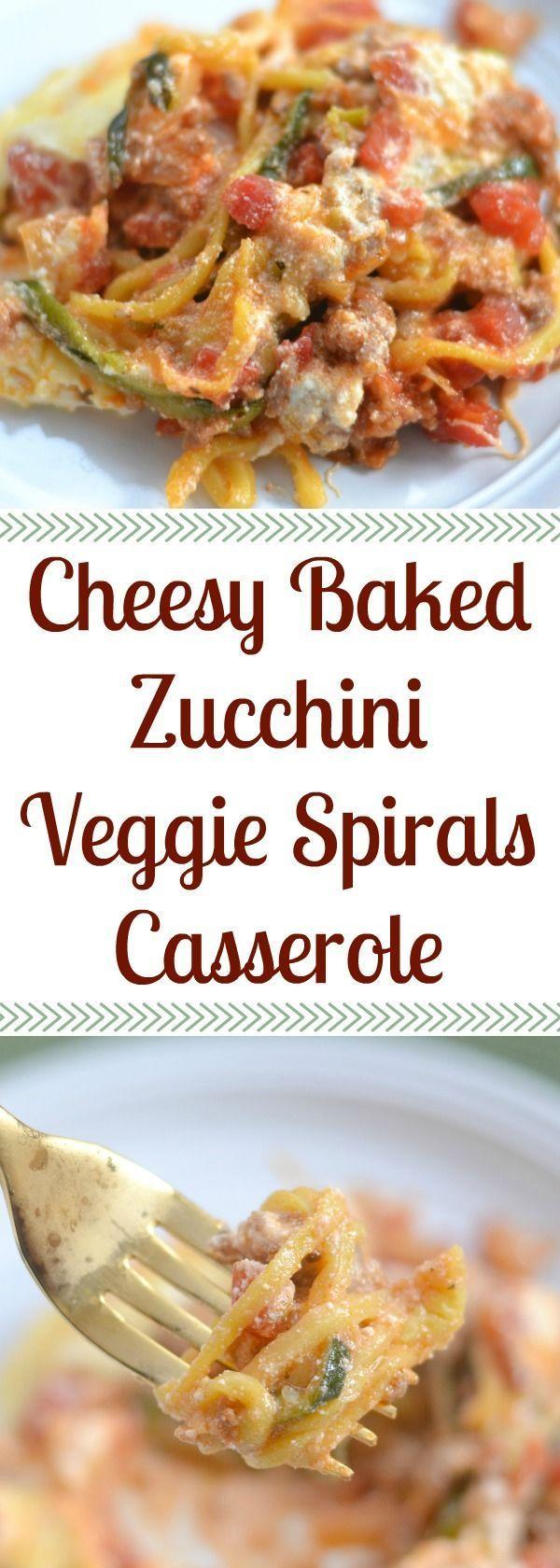 Cheesy Baked Zucchini Veggie Spirals Casserole   - {BOS} - Recipes - #Baked #BOS #Casserole #Cheesy #Recipes #Spirals #Veggie #Zucchini #zucchininoodles