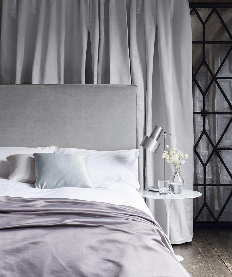 Beruhigende Farben im Schlafzimmer auch grau gehört dazu